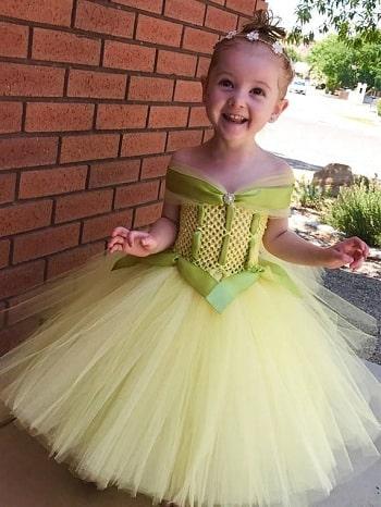 kids Girl Princess Tiana Dress