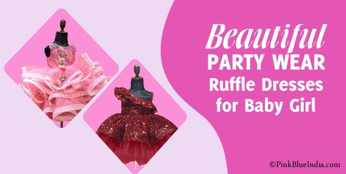 Girls Ruffle Dress, Layered Ruffle Gown for kids