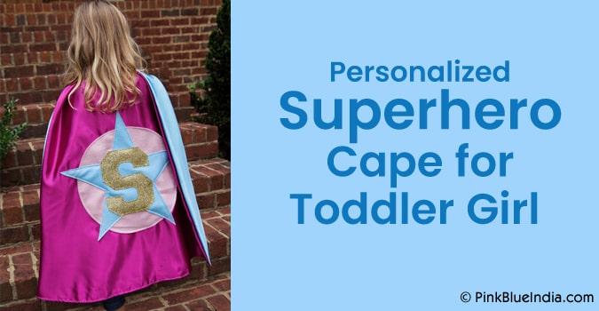 Personalized Superhero Cape, Toddler Girl Superhero cape