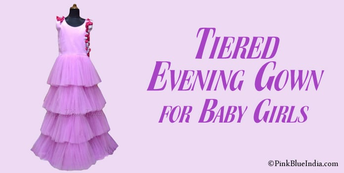 Tiered Evening Gown, Little Girl Ruffle Party Dress