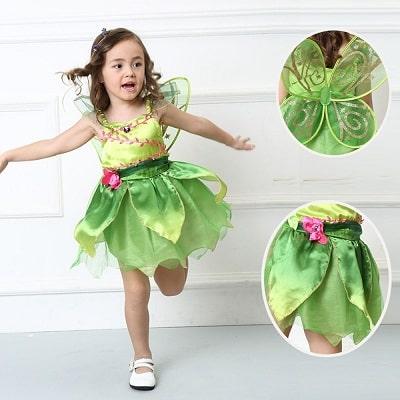 Tinkerbell Green Dress, Princess Tinkerbell Costume