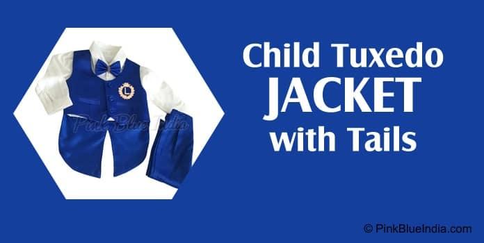 Boys Tuxedo Jacket with Tail, Kids Formal Wear