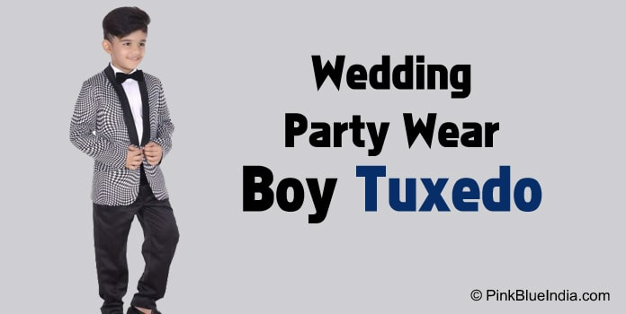 Wedding and Party Wear Little Tuxedo Suit Online India
