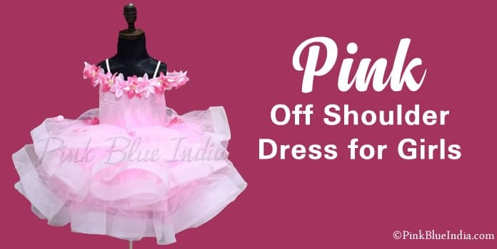 Pink Off Shoulder Dress for Girls
