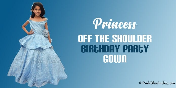 Princess Dress Girls Off the Shoulder Birthday Party Ball Gown