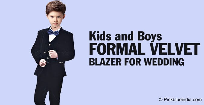Kids and Boys Formal Velvet Blazer for Wedding