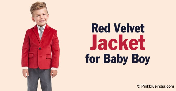 Baby Boy Velvet Dress, Toddler Red Velvet Jacket Online India