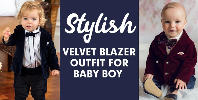Boys Blazer Outfit, Children Velvet Jackets, Dress