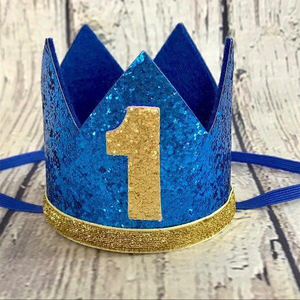 1st Birthday Boy Crown Hat