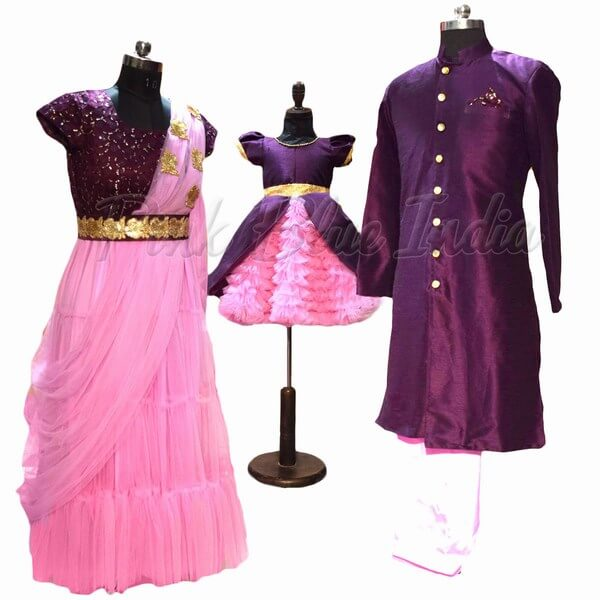 1st Birthday Outfits for Parents Indian Style Dress