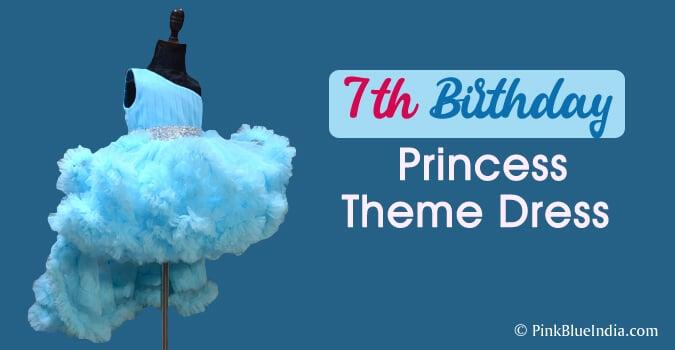 7th Birthday Princess Theme Dress, Little Girl Princess Dress