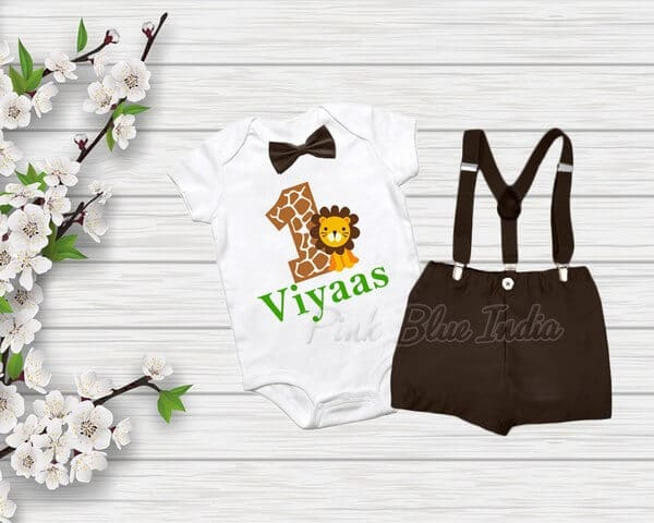 Animal Jungle Wild Theme Birthday Special Dress Outfit