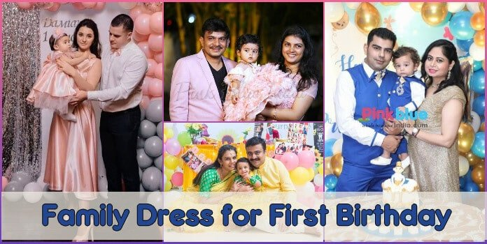 First Birthday Family Outfits Matching 1st Birthday Party Dress