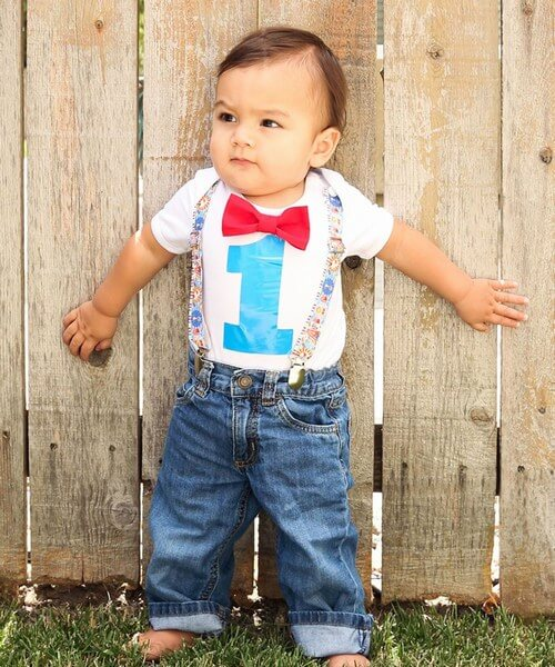 Casual Printed Birthday Outfits for Boys