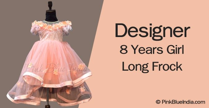 Designer 8 Years Girl Long Frock Online India