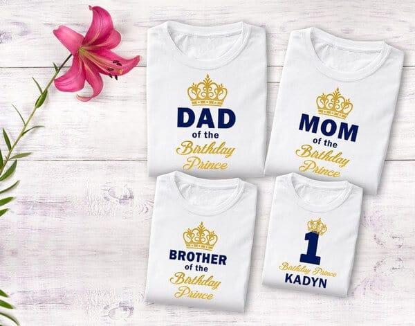 First 1st Birthday Family T-Shirts Custom Matching