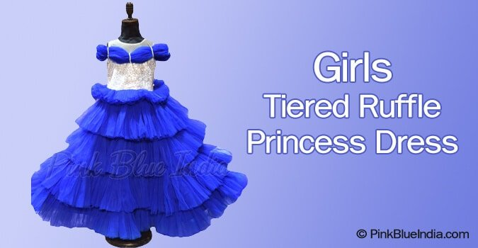 Kids Girls Toddler Baby Tiered Ruffle Party Dress