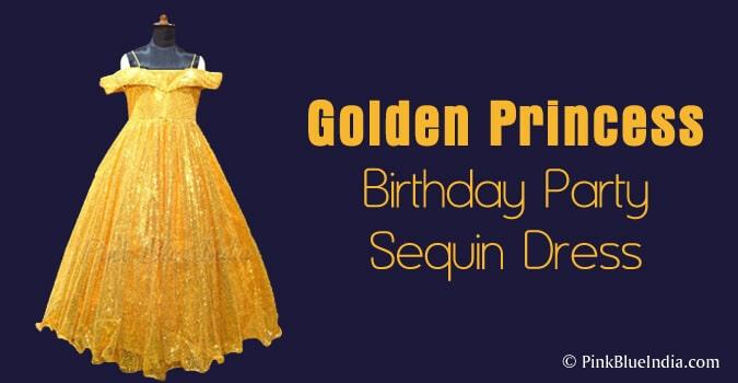 Golden Princess 7th Birthday Party Dress