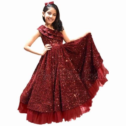 Velvet Gown for Girl Fashion Trend