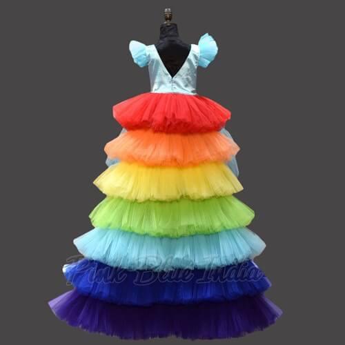 Little Pony Rainbow Theme Party Fashion Show Dress