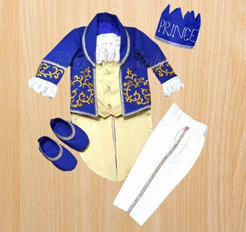 Royal Blue and Gold Little Prince Outfit
