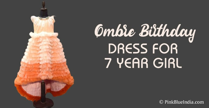Ombre Birthday Dress for 7 year girl