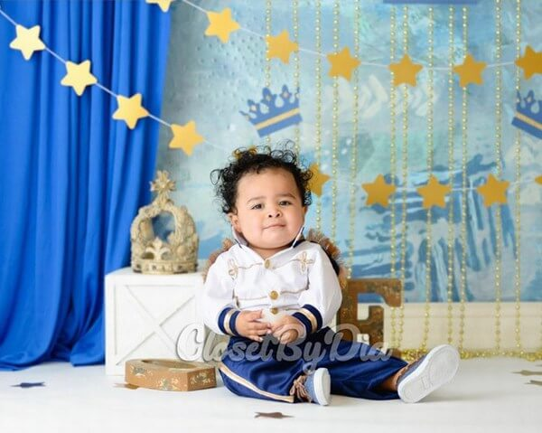 Royal Prince First Birthday Outfit Boy
