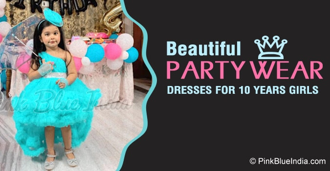 10 Years Girl Party Dresses, Birthday Gown frock India