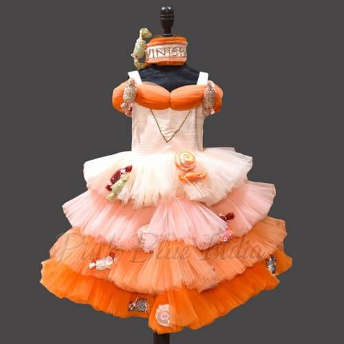 Candy and Sweets Western Dress for 9 year Girl