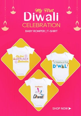 Baby Diwali Outfit, Onesie
