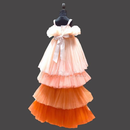 9 Year High low Party Wear Dress