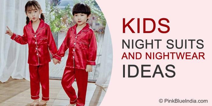 Kids Boys Girls Night Suits, Nightwear, Pyjamas