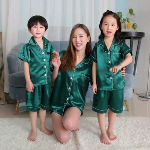 Mother and Baby Matching Pajamas, Nightwear, Night Dress