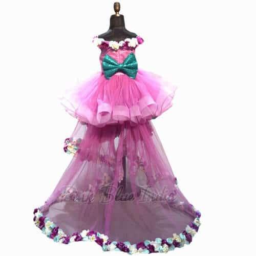 Little Princess Off The Shoulder Dress Trail Gown