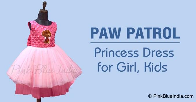 Paw Patrol Princess Dress for Girl Birthday