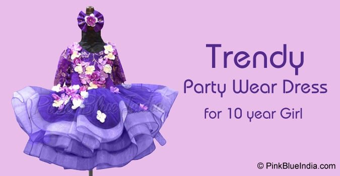 10 year Girl Party Wear Dress in India