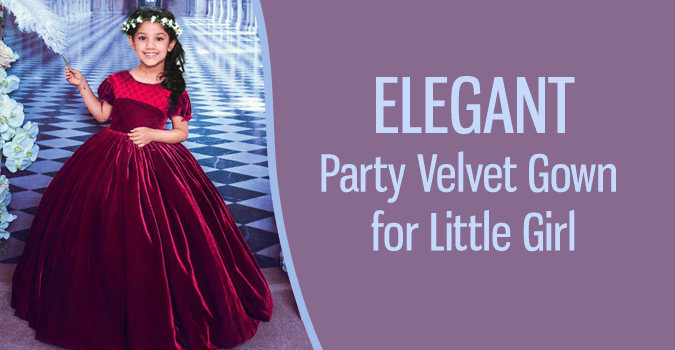 Velvet Gown Party Wear for Teenage Girl