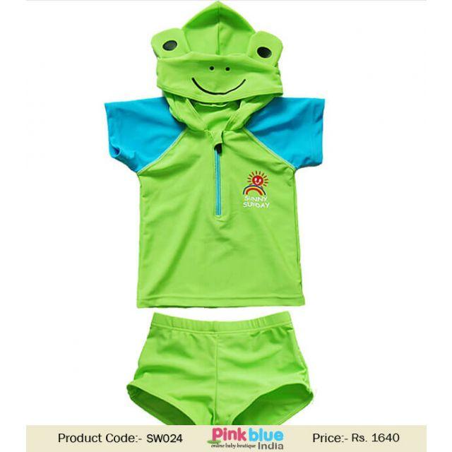 2 Piece Turtle Baby Boy Swimwear costume - kids Swim Trunks, Swim Shorts