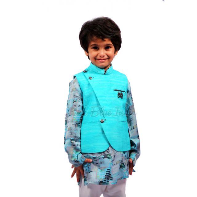 Baby Boy Kurta Pajama with Jacket - kids kurta pajama Online