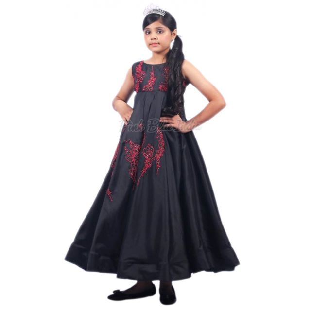 Baby Girl Black Party Wear Gown, Black Dress Online 4 to 9 year Girls