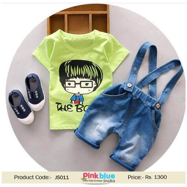 Buy Kids Baby Girl Denim Dungarees Jumpsuit Green Top Online