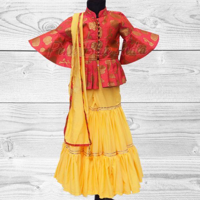 Girls sharara dress wedding – Ethnic Party wear Kids Sharara Set Online