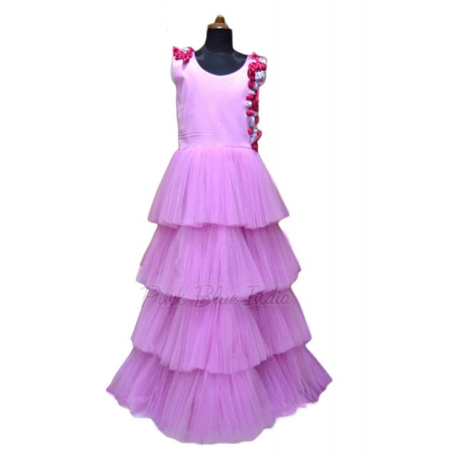 Buy Tiered Dress, Tiered Gown for Baby Girls Online India