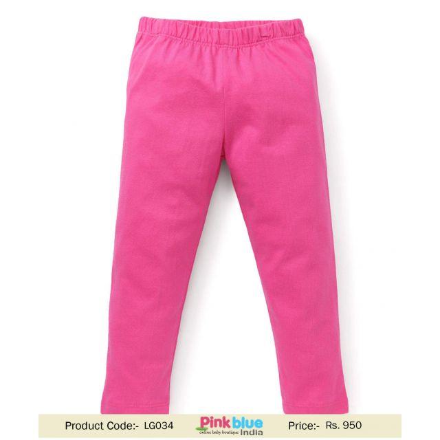 Hot Pink Baby Girls Wool Leggings and Jeggings