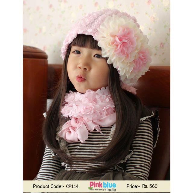 baby flower cap