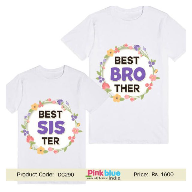 customised tshirts for best brother and sister - Sibling T-Shirts Matching tees