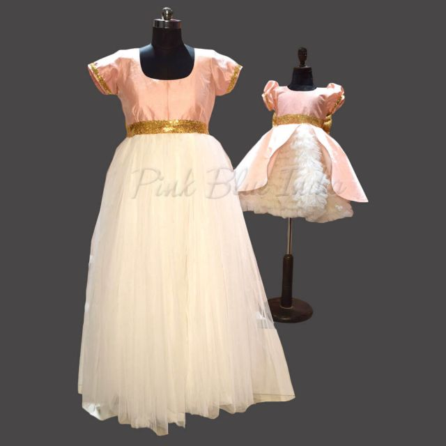Mom and Baby Gown Designs