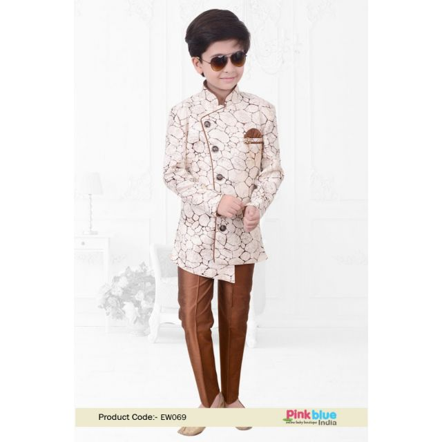 Baby Boy Indo Western Outfit - Kids Ethnic Wear Online