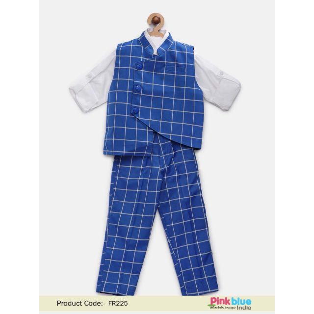 buy boys 4 Piece Party Wear Suit, Kids Birthday Clothes, waistcoat wedding Outfit