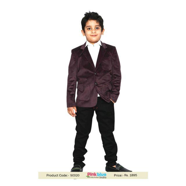 Boys Party Wear Blazers - Readymade Boys Coat, Kids Jacket India
